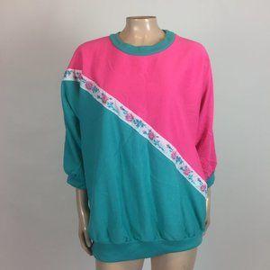 Vintage 80's Stepping Up Shirt Floral Oversized P2